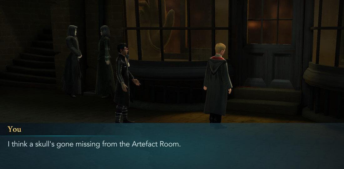 Présentation de Harry Potter à Poudlard, mystère, année 6, chapitre 4