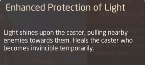 Protection renforcée de la lumière par le paladin