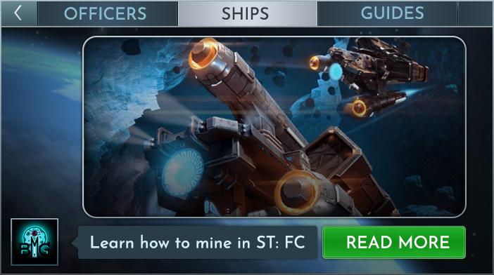 Exploitation minière commandée par la flotte Star Trek