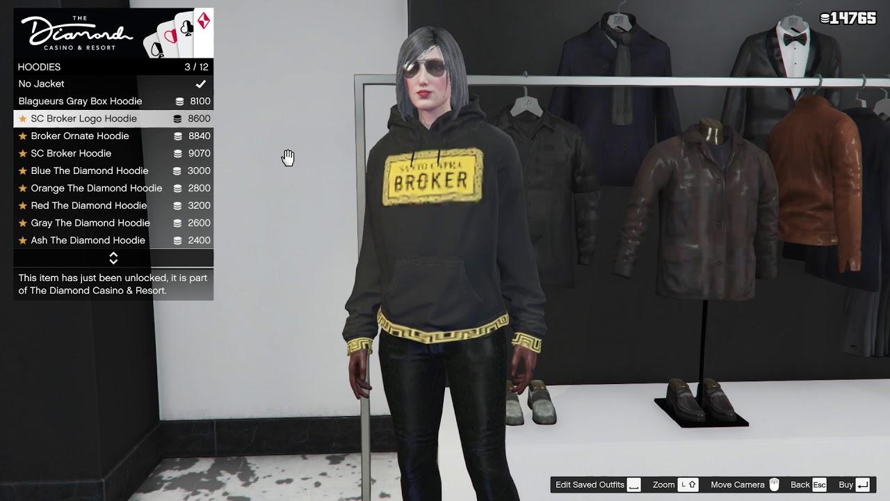 Vêtements de casino