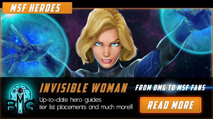 Femme invisible de Marvel Strike Force