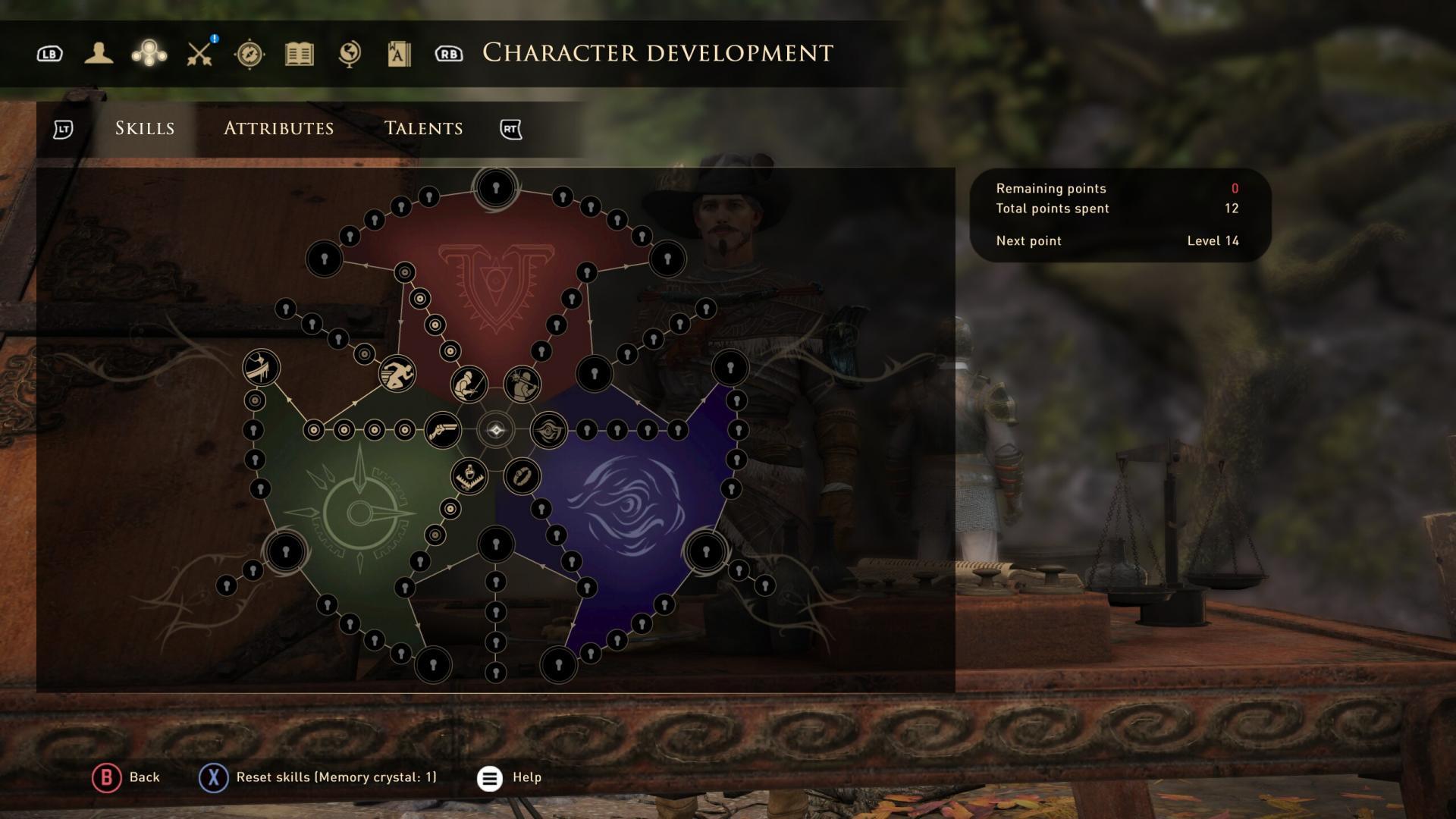 Développement du personnage GreedFall