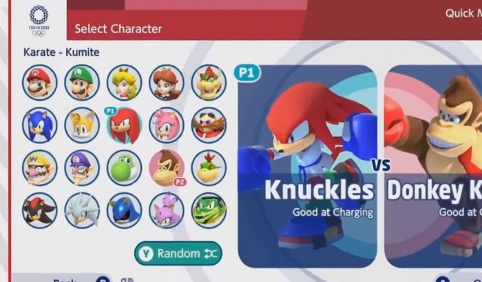 Mario et Sonic aux personnages des Jeux Olympiques 2020