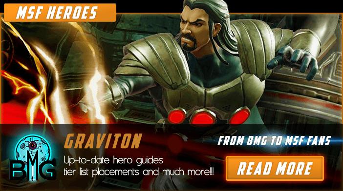 Marvel Strike Force Graviton En vedette