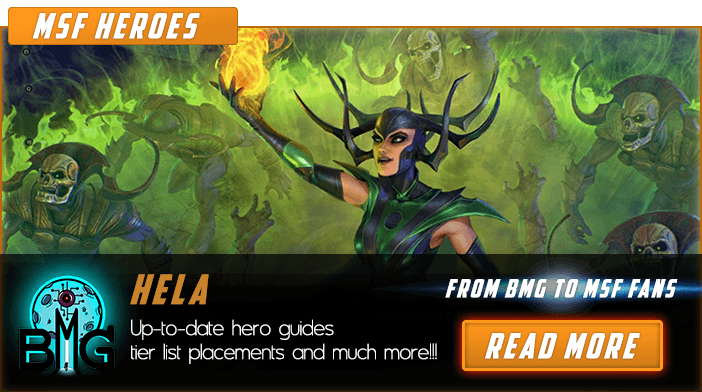 Marvel Strike Force Hela Vedette