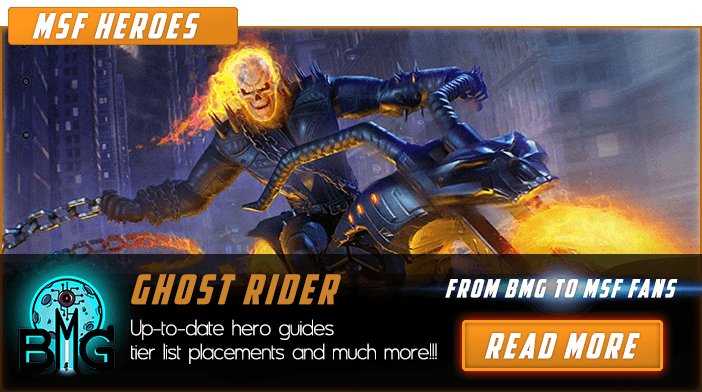 Marvel Strike Force Ghost Rider En vedette