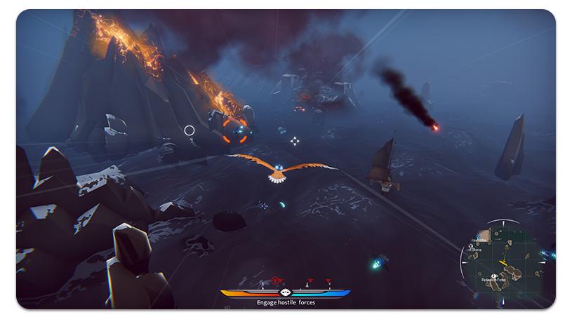 Le gameplay de Falconeer