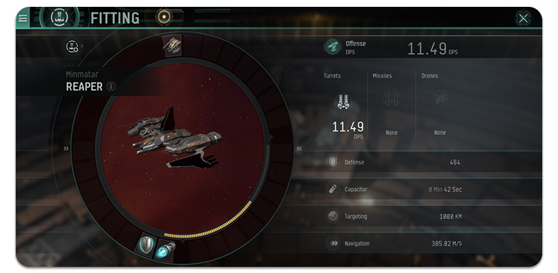 EVE Echoes Ship Stats