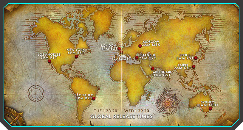 Warcraft 3 Reforged Global Release Times