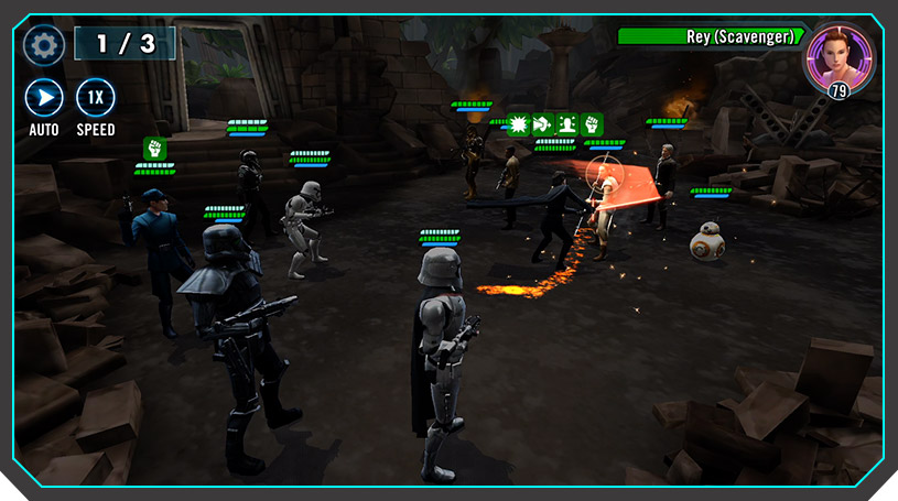 Star Wars Galaxy of Heroes - Top 5 des jeux mobiles Gacha