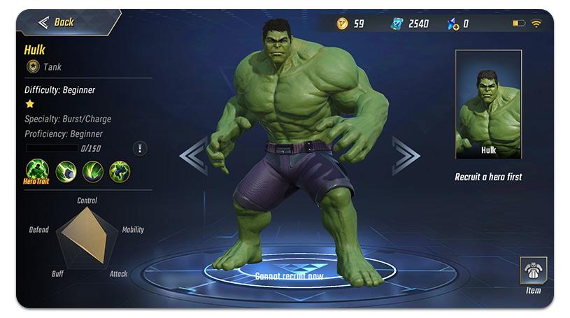 Marvel Super War Hulk