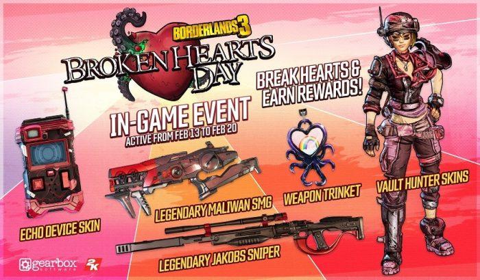 Borderlands 3 Broken Hearts Day