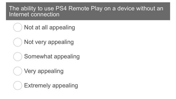 Sony Survey