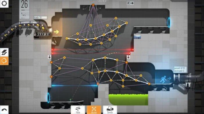 Les 10 meilleurs jeux mobiles qui fonctionnent mieux sur Tablets Bridge Constructor Portal