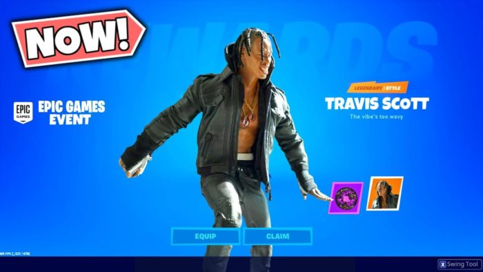Série Fortnite Icon Travis Scott