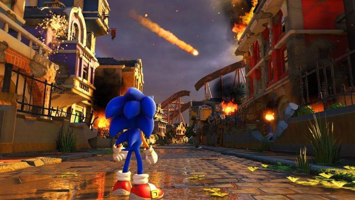 Écran principal de Sonic Forces 1280x
