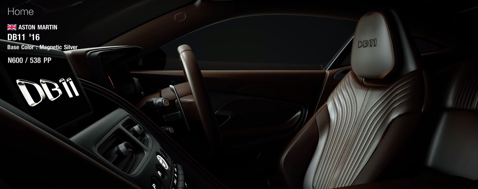 Intérieur Gran Turismo 7 Aston Martin DB11
