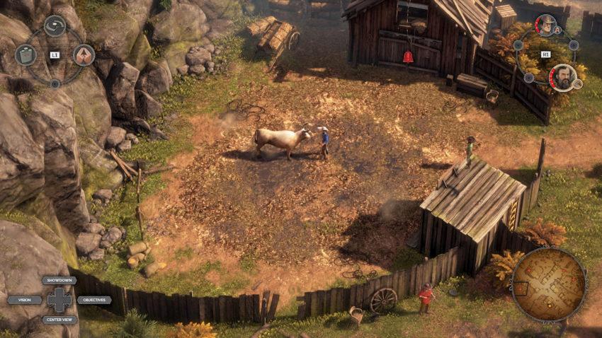 Desperados III Jarvis contre vache