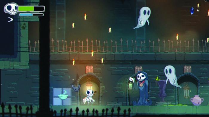 Écran de gameplay de Skelattack