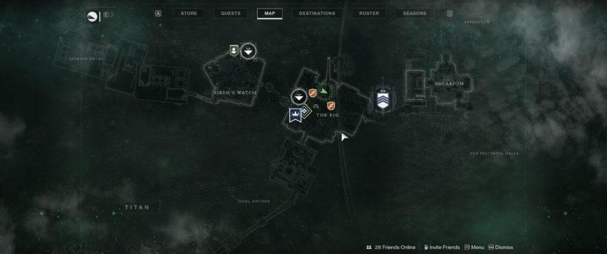 La carte du Rig B