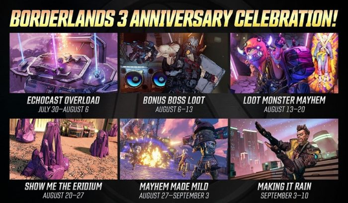 Borderlands 3 anniversaire