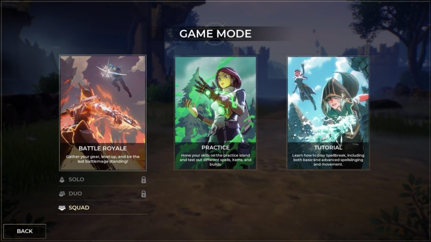 écran du mode jeu
