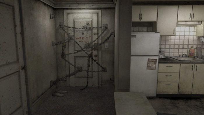 La porte enchaînée de Silent Hill 4.